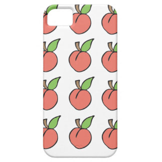Peach w/ green leaf Pattern iPhone 5 / 5s / 6 case