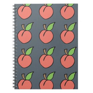 Peach w/ green leaf Pattern Spiral Note Book
