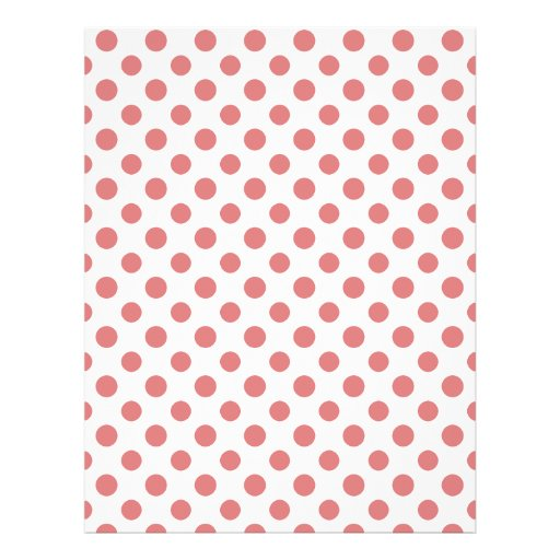 Peach White Polka Dots Pattern Full Color Flyer