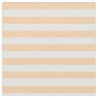 Peach & White Striped Fabric
