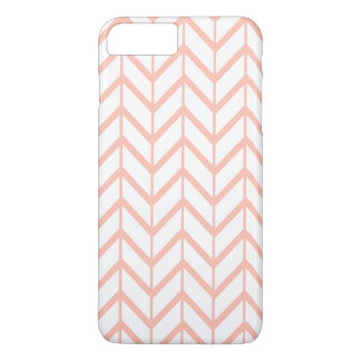Peach White Unique Zigzag Chevron Pattern Girly iPhone 7 Plus Case