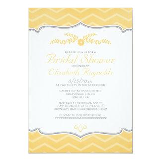 Peach Zigzag Bridal Shower Invitations