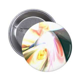 Peaches and Cream Abstract Button