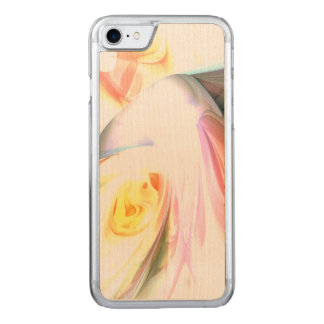 Peaches and Cream Abstract Carved iPhone 7 Case