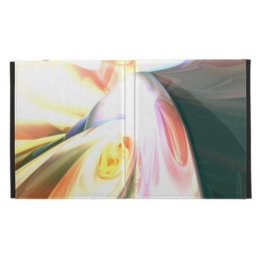 Peaches and Cream Abstract iPad Folio Cases