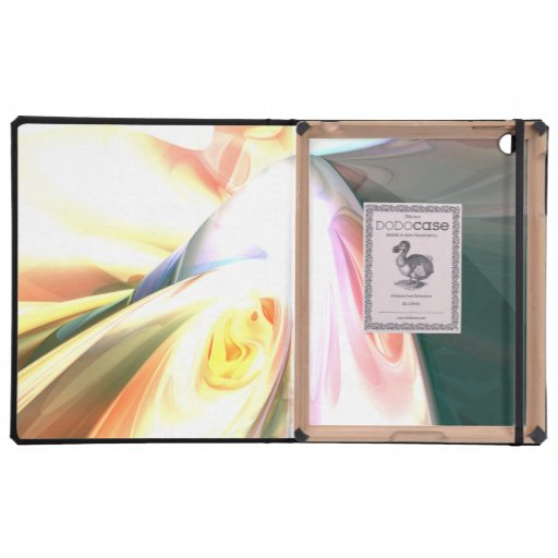 Peaches and Cream Abstract Case For iPad