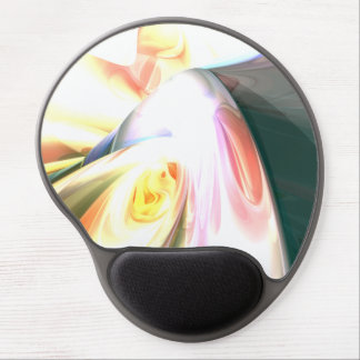 Peaches and Cream Abstract Gel Mouse Mats
