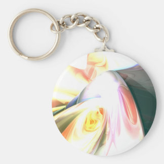 Peaches and Cream Abstract Keychain