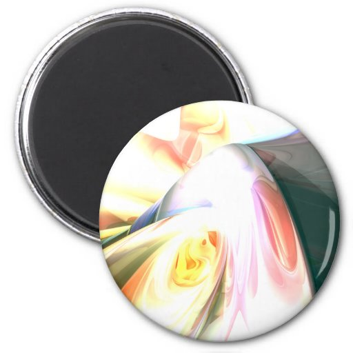 Peaches and Cream Abstract Magnet