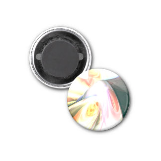 Peaches and Cream Abstract Refrigerator Magnet