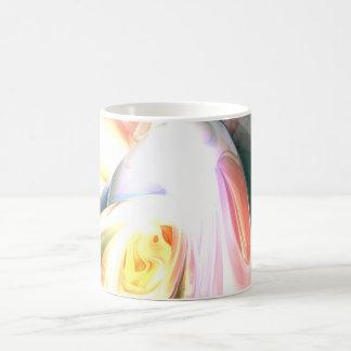 Peaches and Cream Abstract Mug