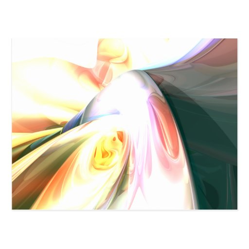 Peaches and Cream Abstract Postcard