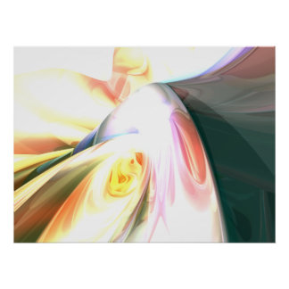 Peaches and Cream Abstract Poster