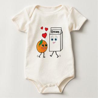 Peaches and Cream in Love Baby Bodysuit
