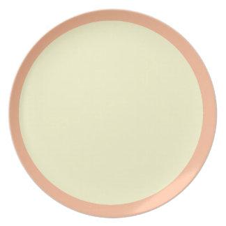 Peaches and Cream Plate