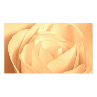Peaches and Cream Rose Business Card Templates