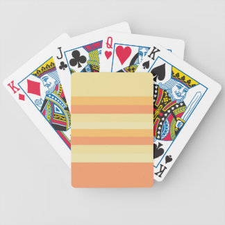 Peaches and Cream Stripe - Playing Cards
