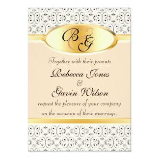 Peaches and Cream Wedding Collection Card