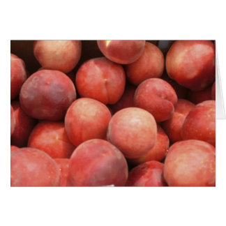 Peaches at  the Green Market Card