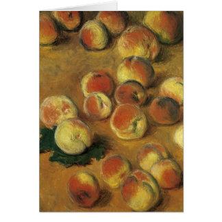 Peaches by Claude Monet Card
