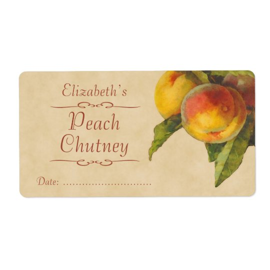 Peaches Canning label