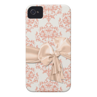 Peaches & Cream Damask iPhone 4 Casemate iPhone 4 Covers