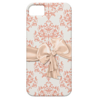 Peaches & Cream Damask iPhone 5 Casemate Barely There iPhone 5 Case