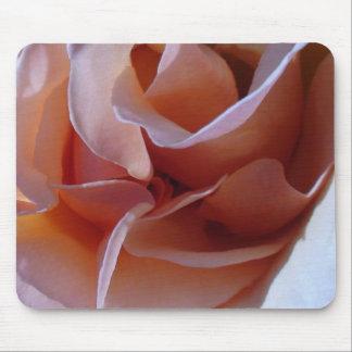 Peaches & Cream Petals Rose Mouse Pads