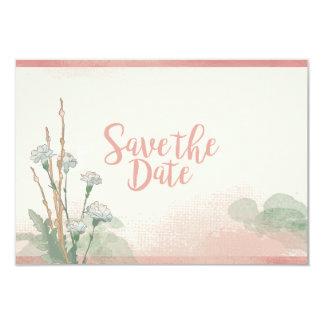 Peaches & Cream Save-the-Date 9 Cm X 13 Cm Invitation Card