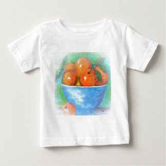 Peaches in a Blue Bowl Vignette Baby T-Shirt