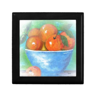 Peaches in a Blue Bowl Vignette Gift Box