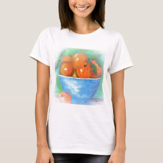 Peaches in a Blue Bowl Vignette T-Shirt