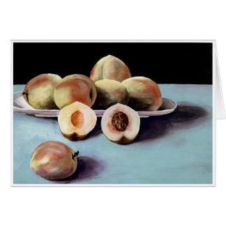 Peaches in a bowl. card