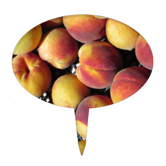 Peaches in box cake toppers