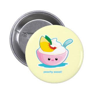 Peaches 'N Cream 6 Cm Round Badge