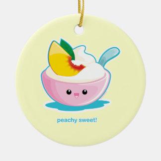 Peaches 'N Cream Ceramic Ornament