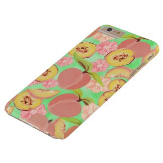 Peaches on Green Barely There iPhone 6 Plus Case