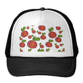 Peaches pattern cap
