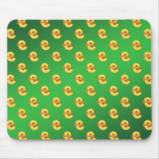 Peaches Pattern - Green Background Mousepad
