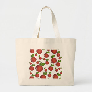 Peaches pattern large tote bag