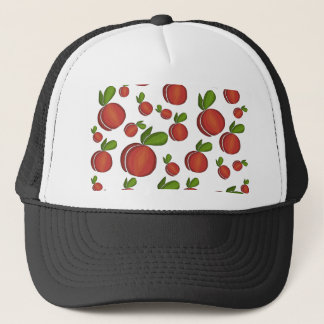 Peaches pattern trucker hat