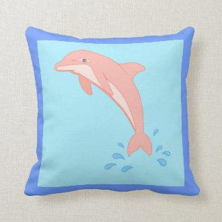 Peaches the Pink Dolphin Cushion