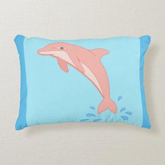 Peaches the Pink Dolphin Decorative Cushion