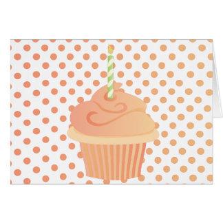 Peachy Cake Note Card