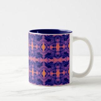 peachy fractal mug