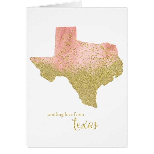 Peachy Gold Sending Love From Texas Card