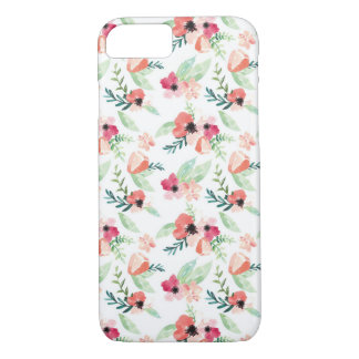 Peachy Keen Hand Painted Floral Watercolor iPhone 7 Case