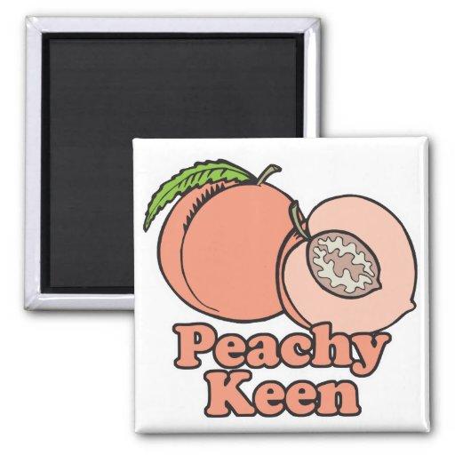 Peachy Keen Peaches Fridge Magnet