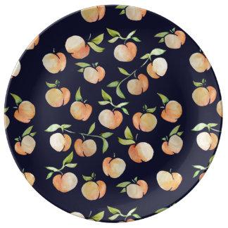 Peachy Peaches Porcelain Plates