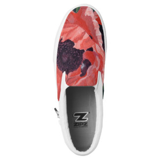 Peachy Poppies Slip On Shoes